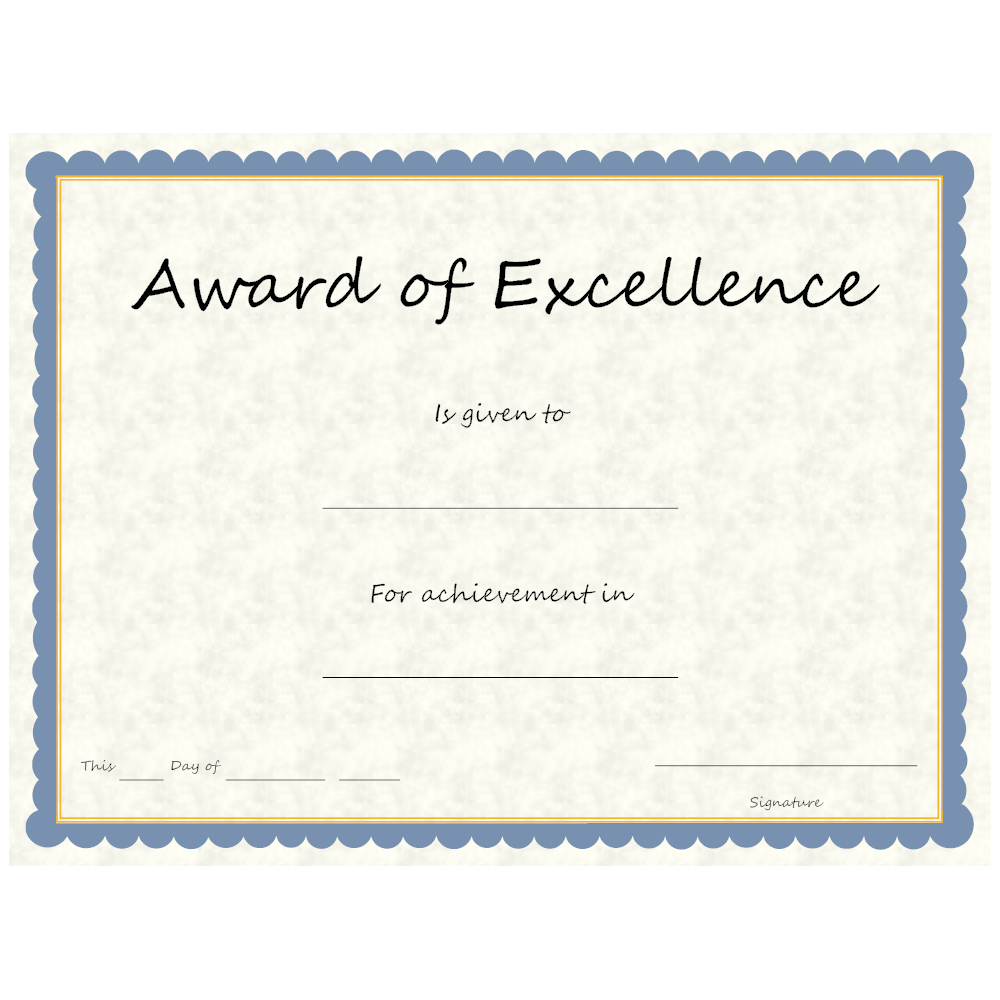 Example Image: Award of Excellence