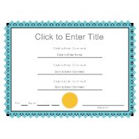 Certificate Example 10