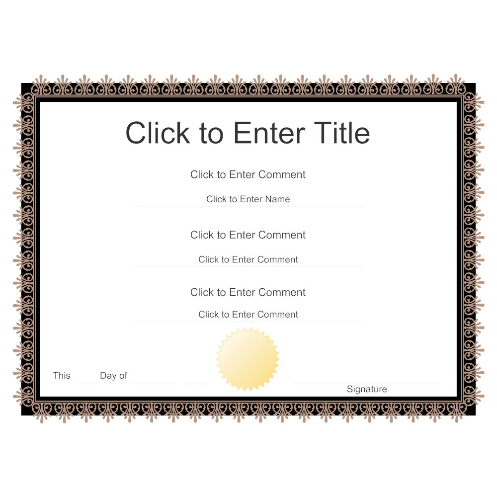 Example Image: Certificate Example 10