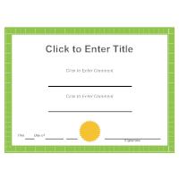 Certificate Example 2