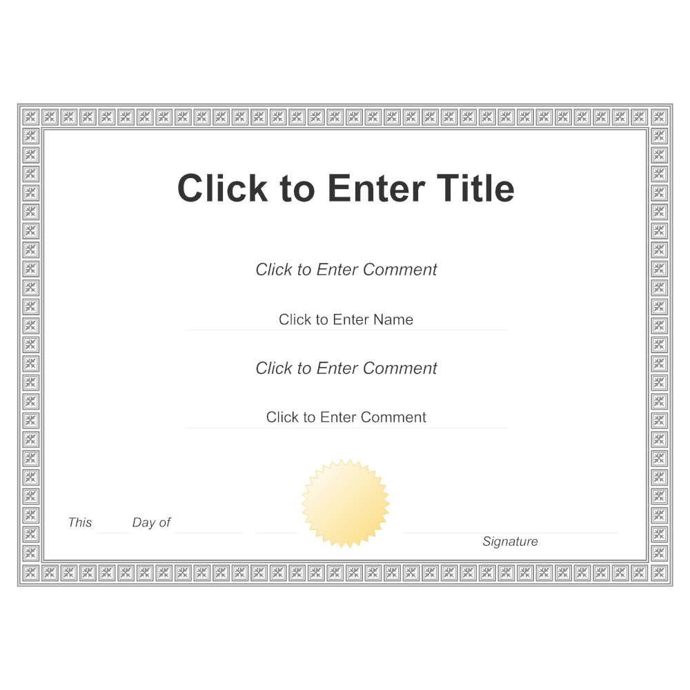 Example Image: Certificate Example 2