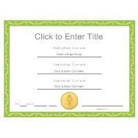 Certificate Example 3