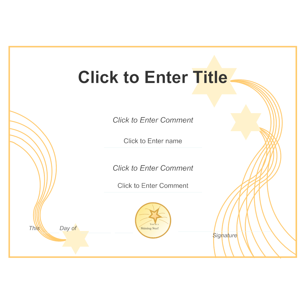 Example Image: Certificate Example