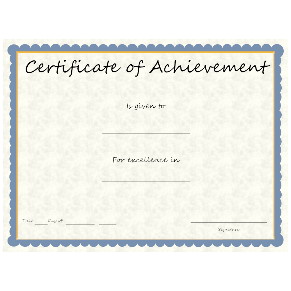 Example Image: Certificate of Achievement