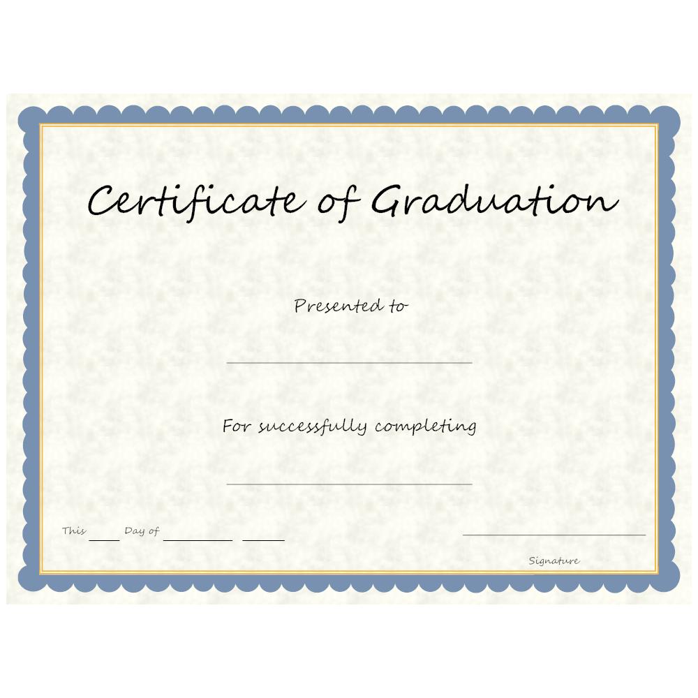 Example Image: Certificate of Graduation