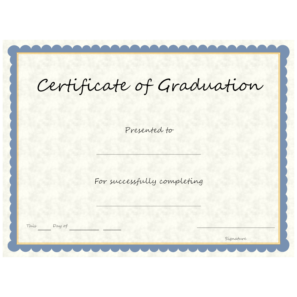 Example Image: Certificate of Graduation