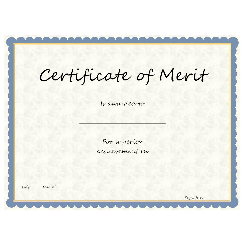 Example Image: Certificate of Merit