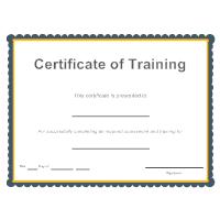Certificate of Training