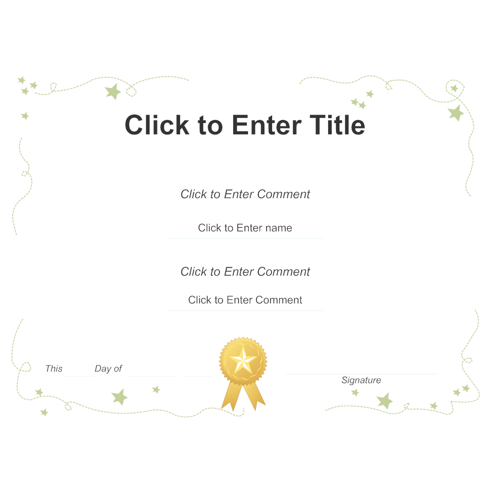 Example Image: Certificate Template 3
