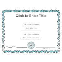 template certificates