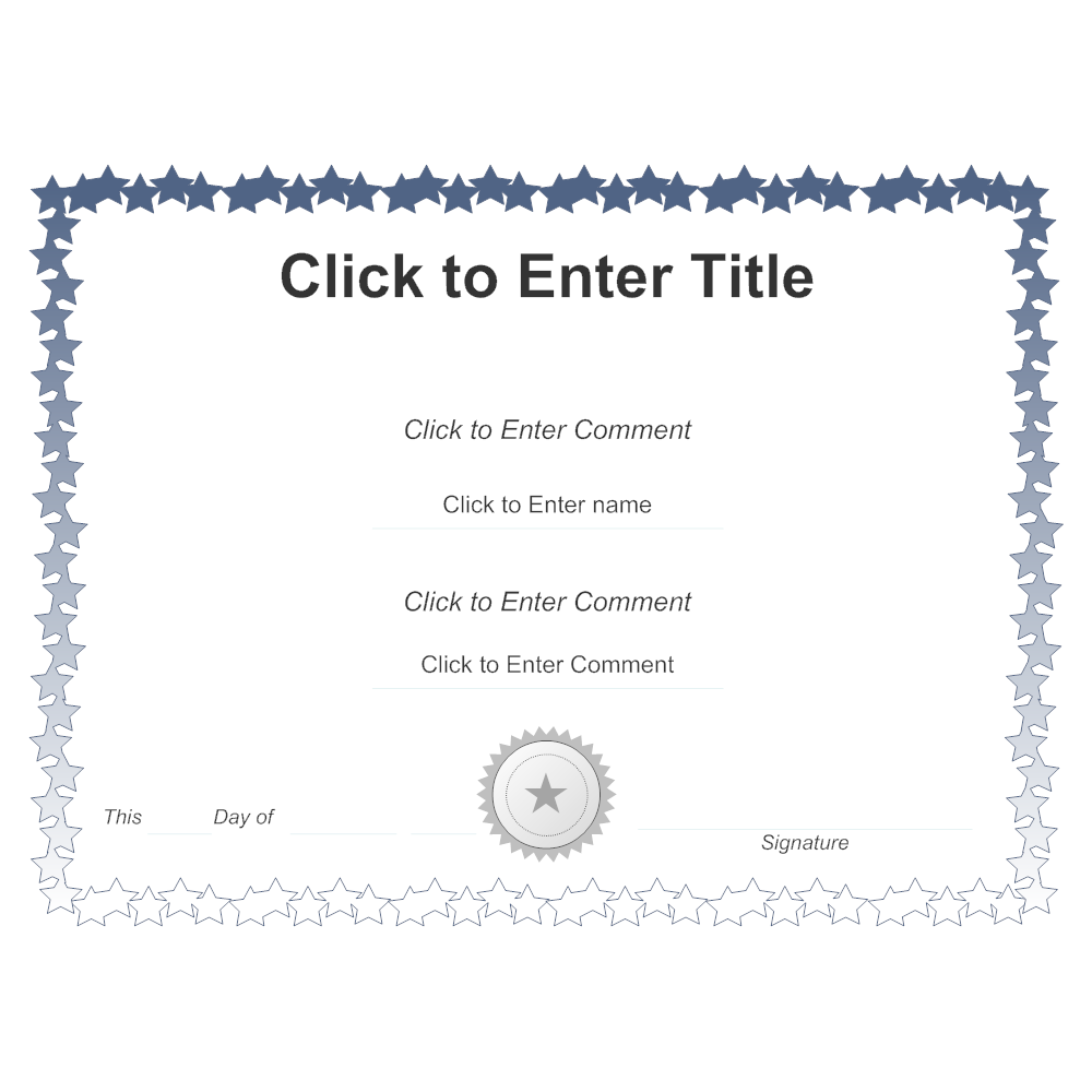 Example Image: Certificate Template 6
