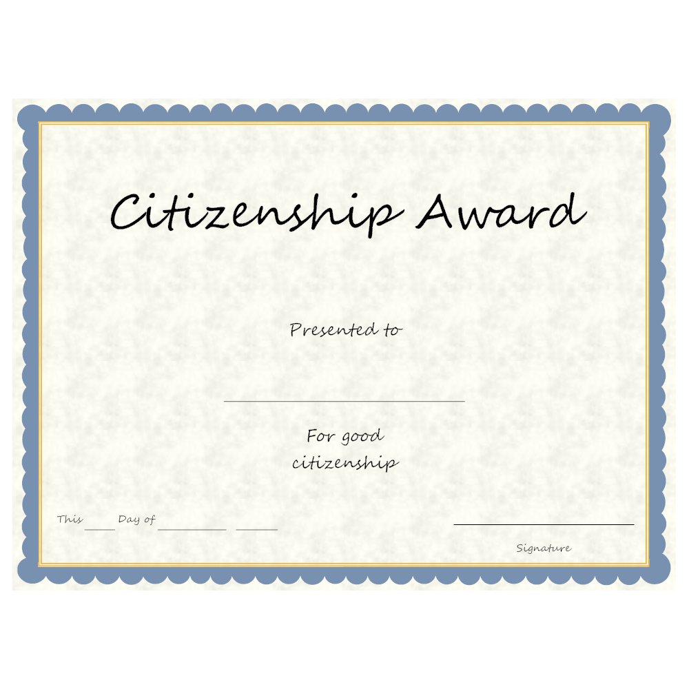 Example Image: Citizenship Award