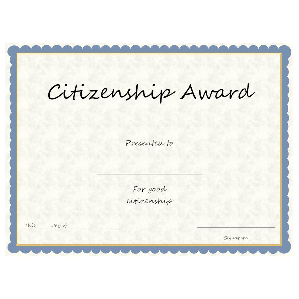 Example Image: Citizenship Award