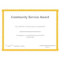 Community Service Award