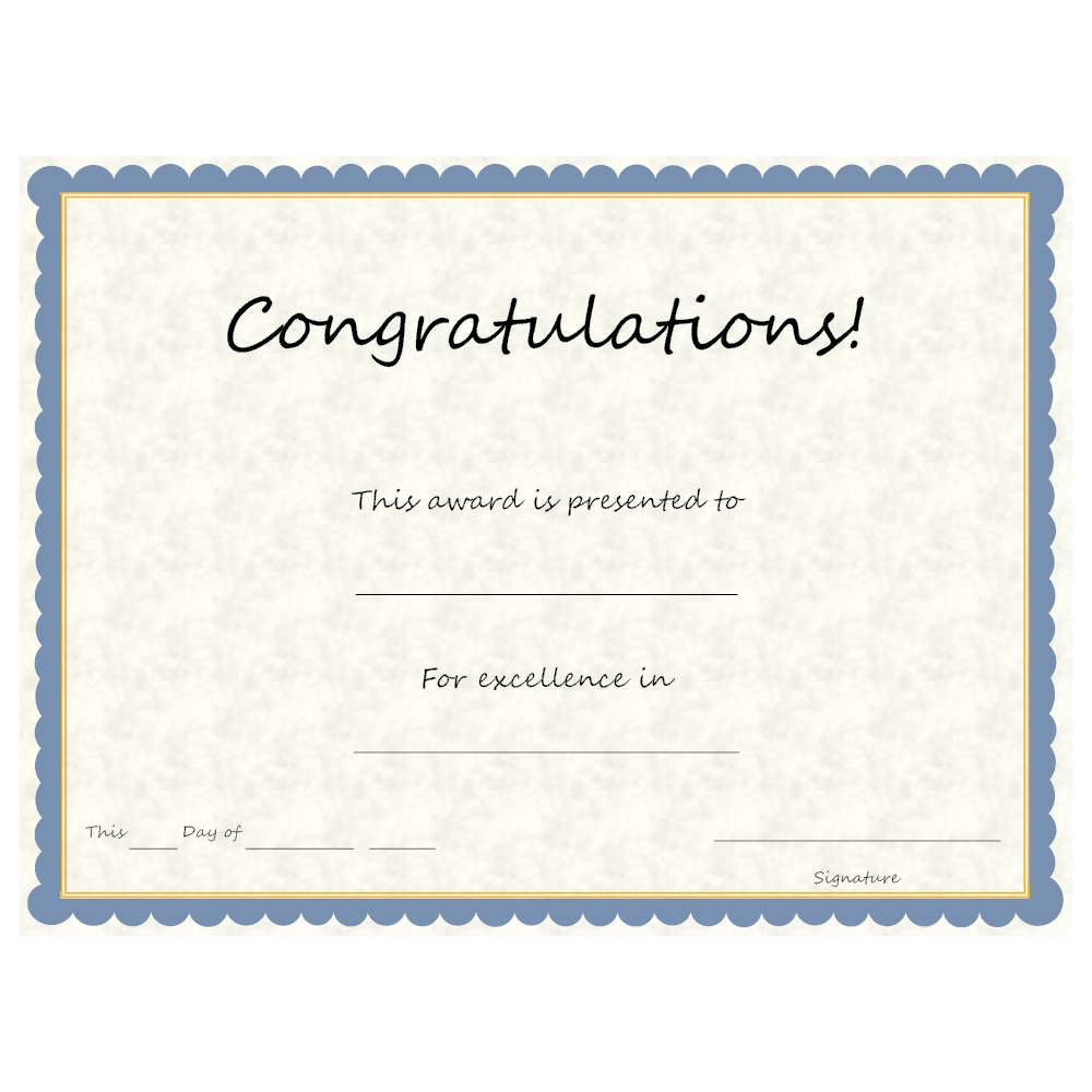 Example Image: Congratulations