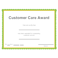Customer Care Award