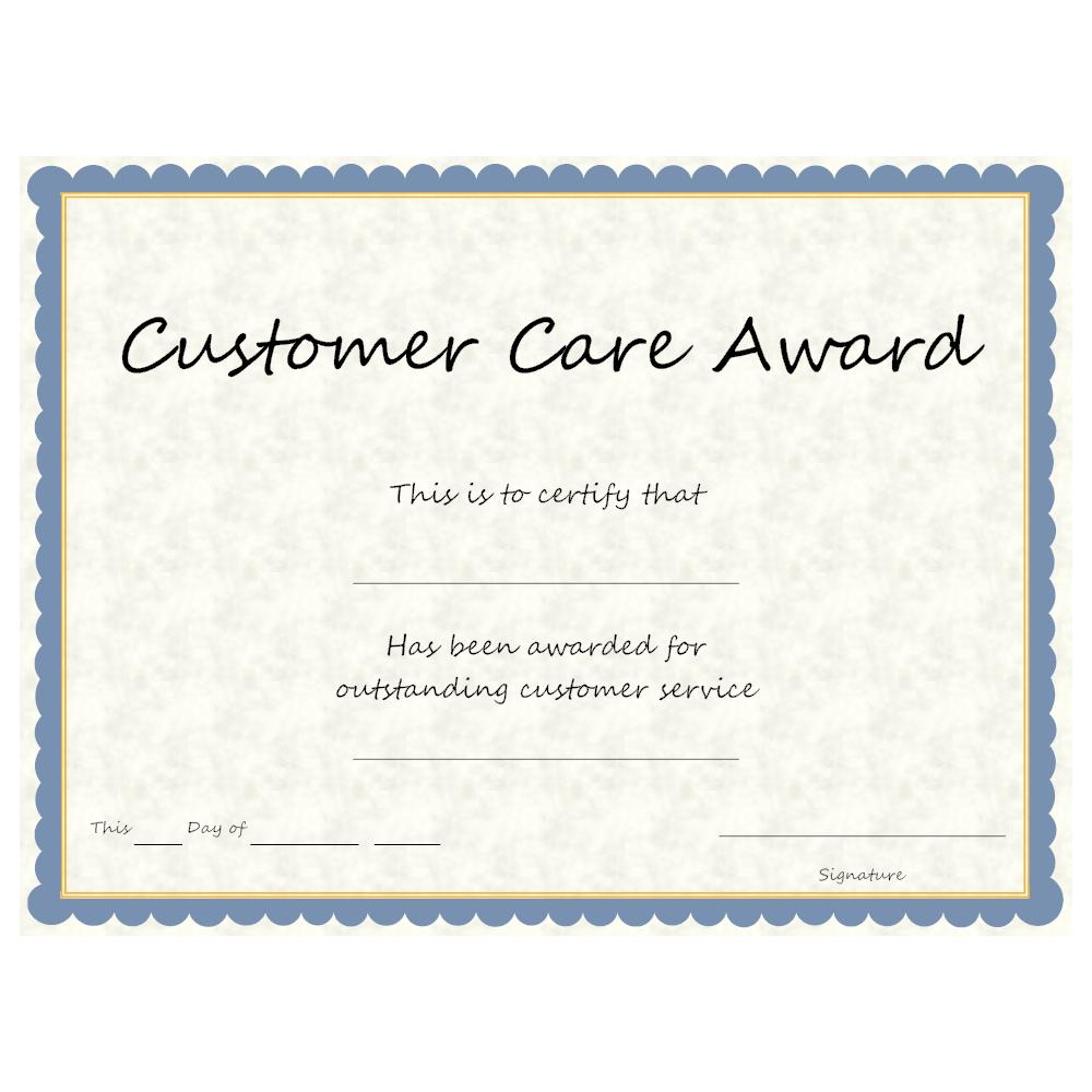 Example Image: Customer Care Award