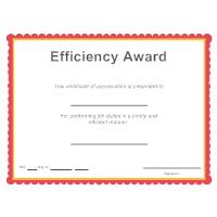 Efficiency Award