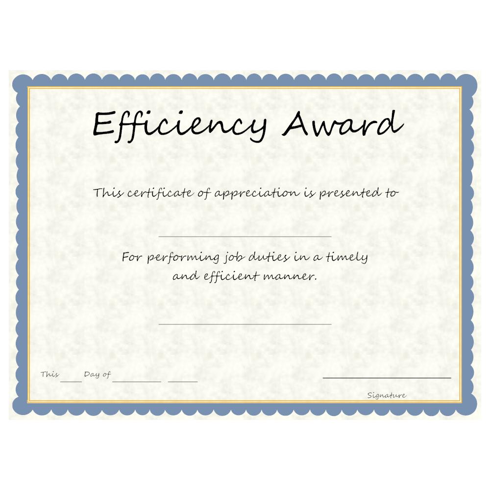 Example Image: Efficiency Award