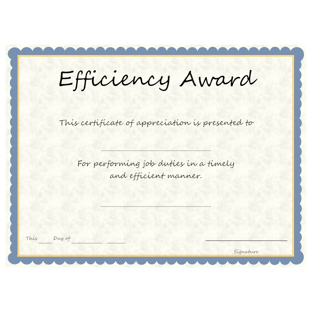 Example Image: Efficiency Award