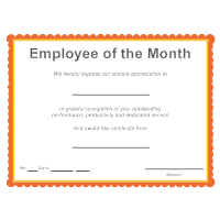 Certificate templates employee of the month award yadclub Gallery