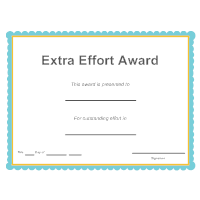 Extra Effort Award