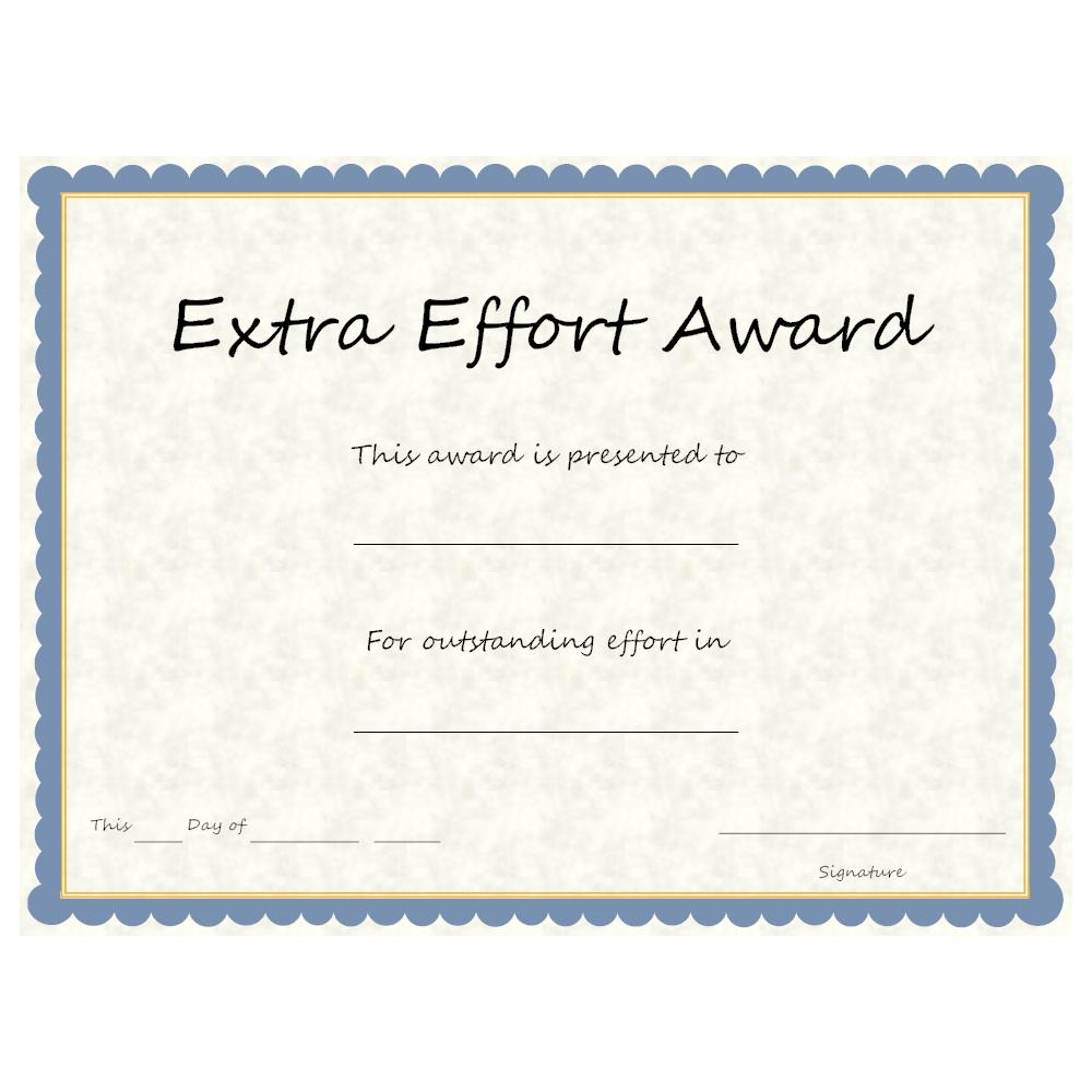 Example Image: Extra Effort Award