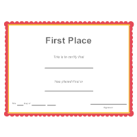 First Place Award