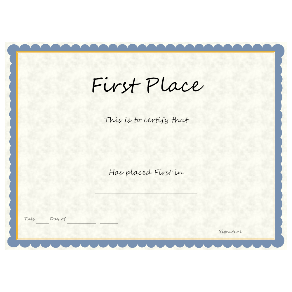 Example Image: First Place Award