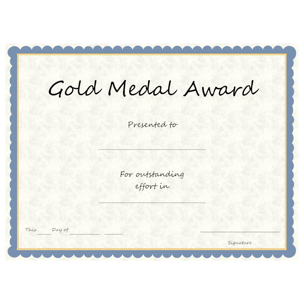 Example Image: Gold Medal Award