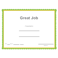 Certificate templates great job award yadclub Gallery