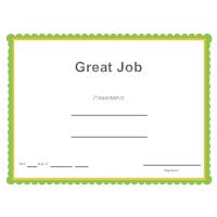 Great Job Award