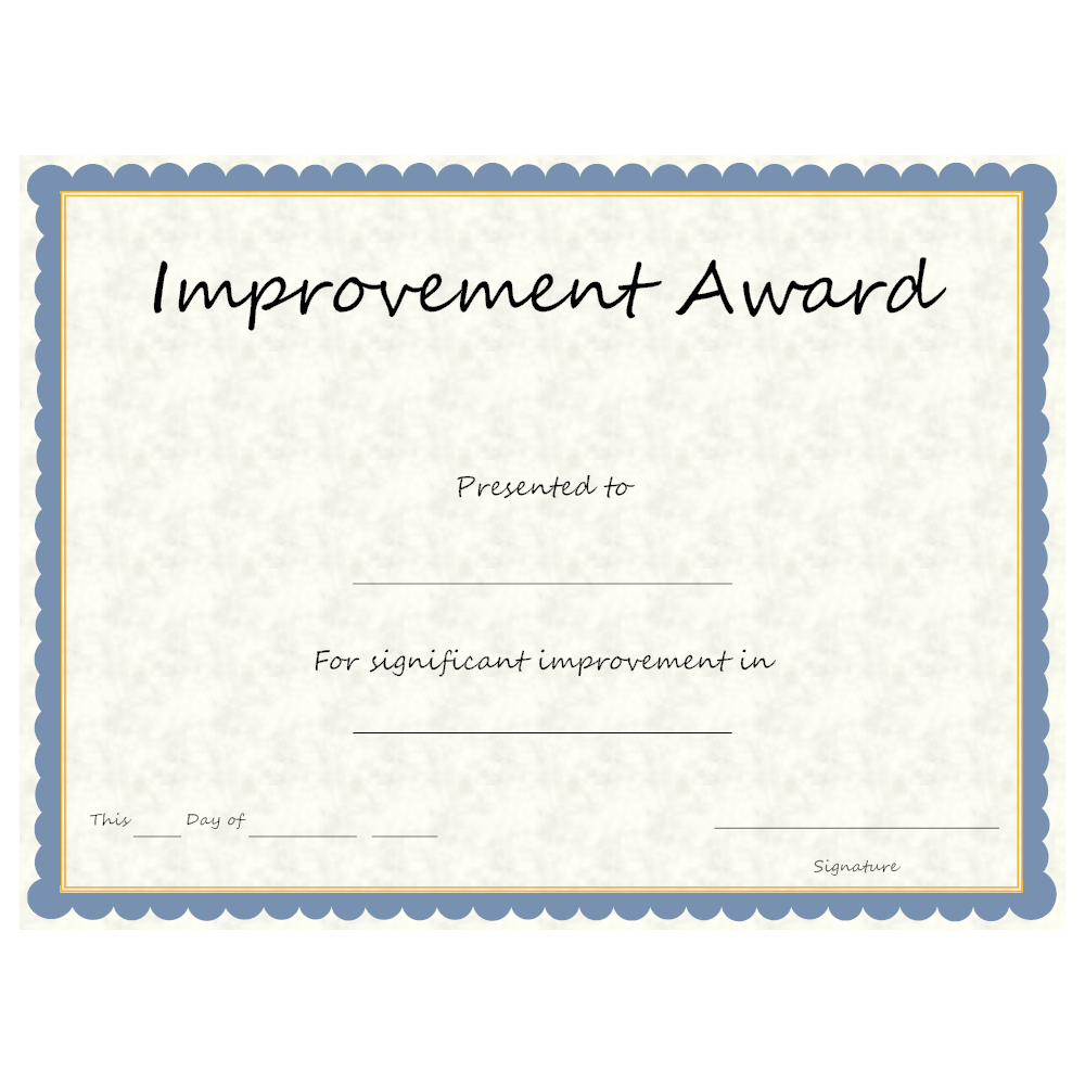 Example Image: Improvement Award