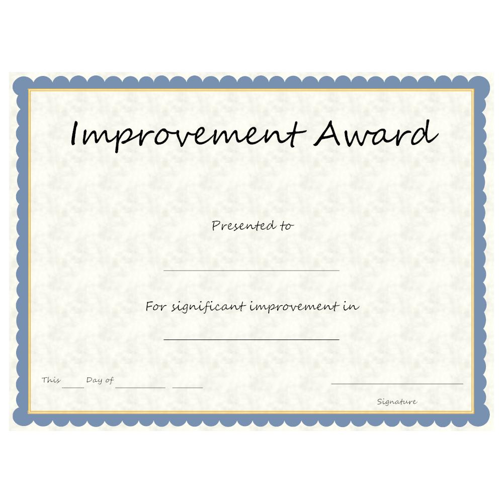 Example Image: Improvement Award