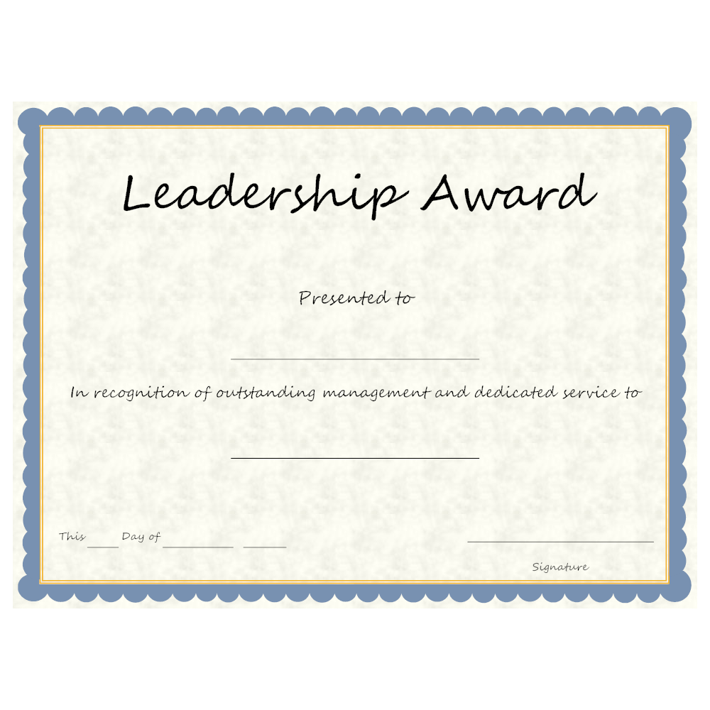 Example Image: Leadership Award