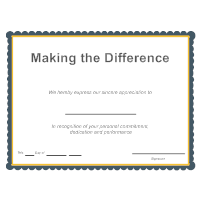 Making the Difference Award