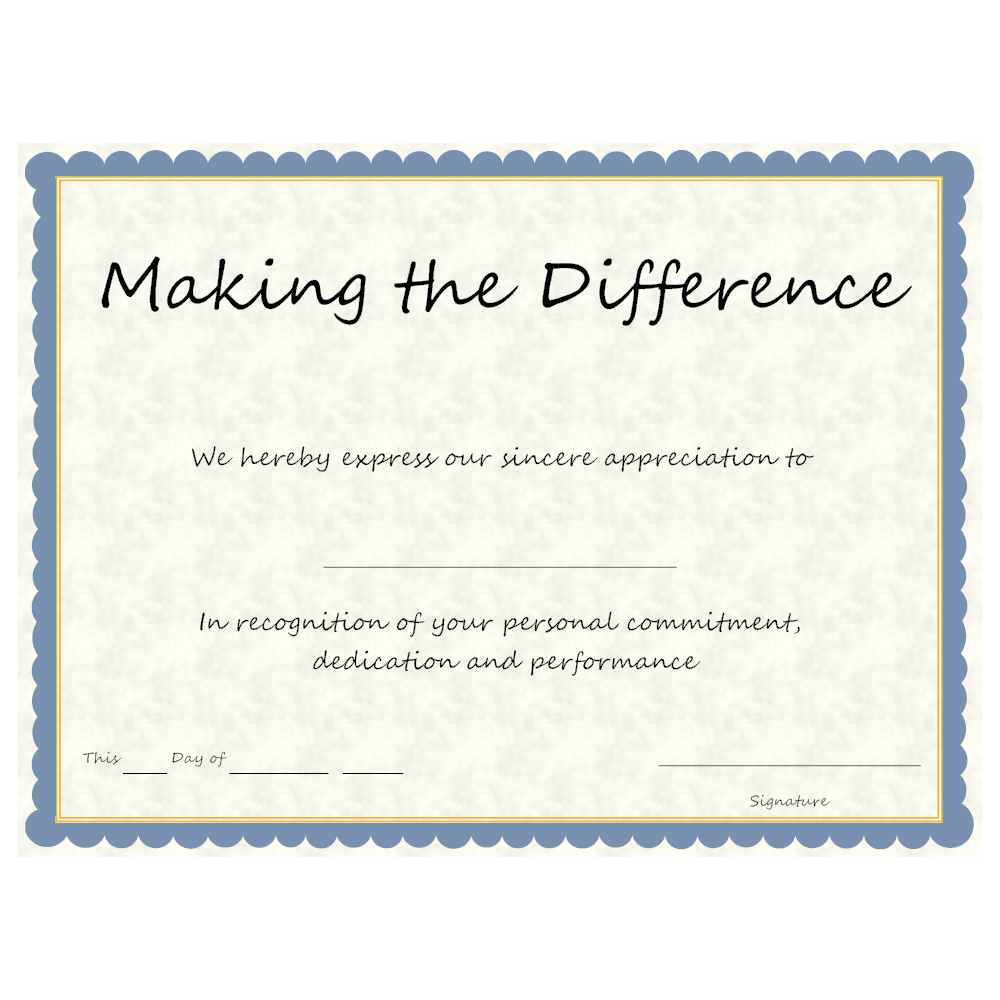 Example Image: Making the Difference Award