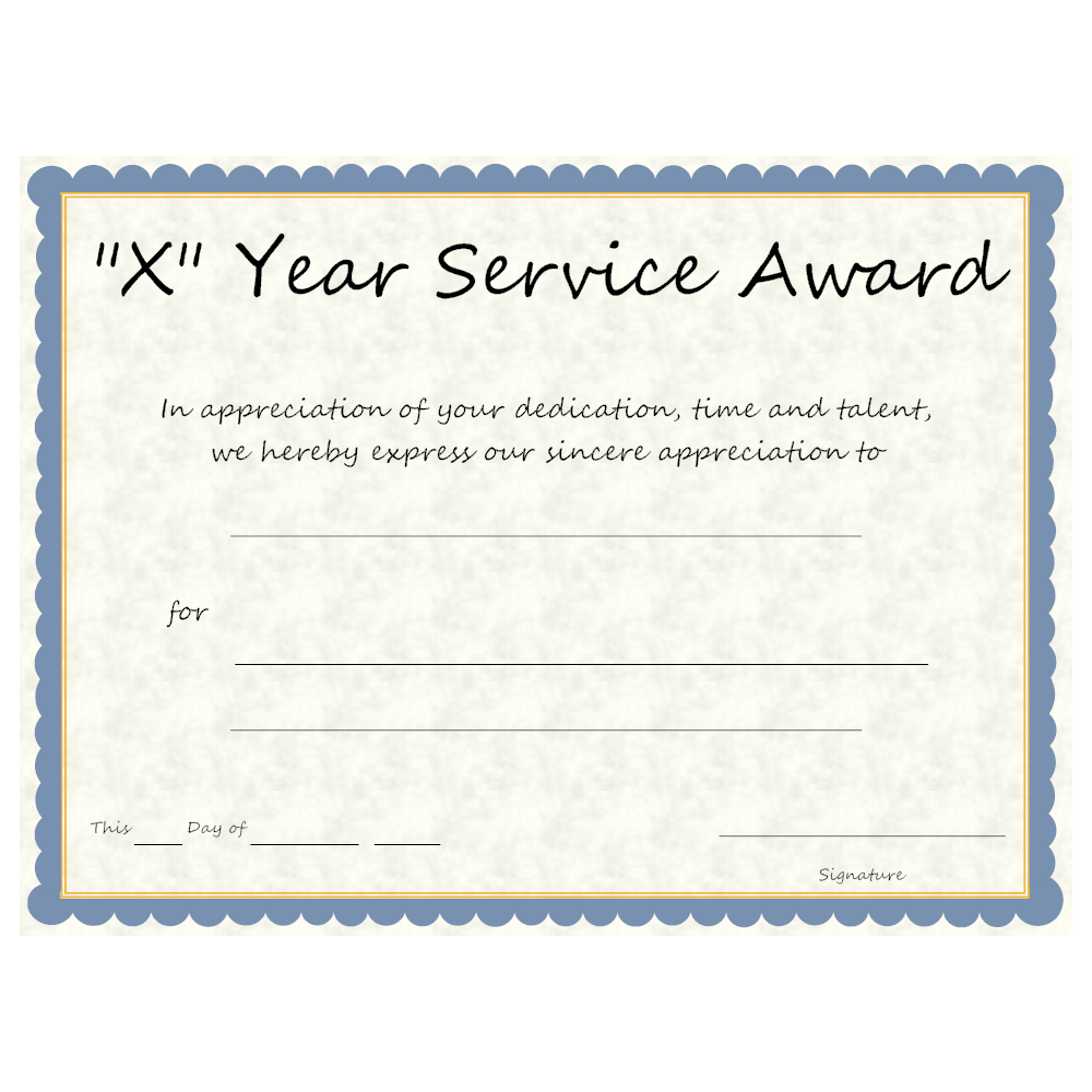Example Image: Multi-year Service Award