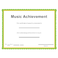 Certificate templates music achievement award yadclub Gallery