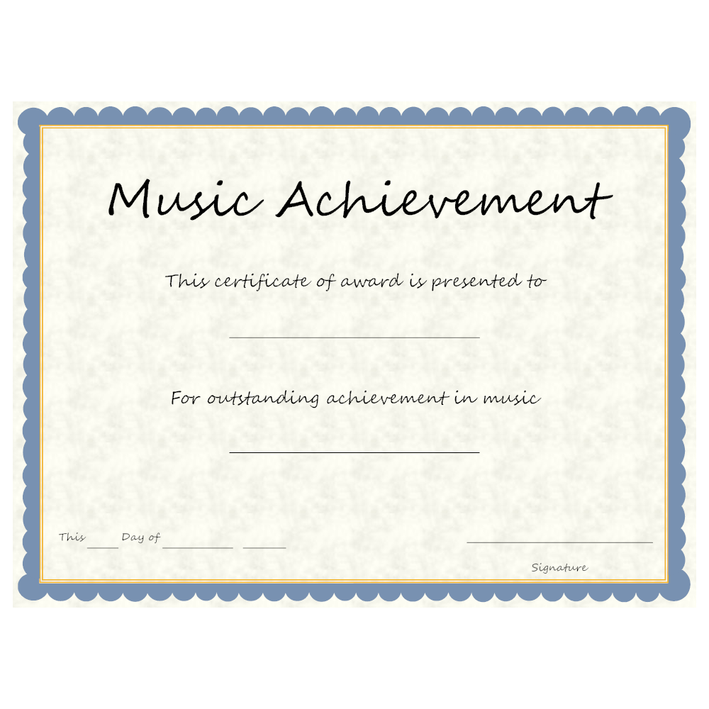 Example Image: Music Achievement Award