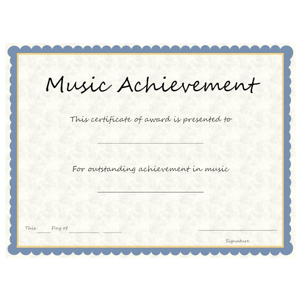 Example Image: Music Achievement Award