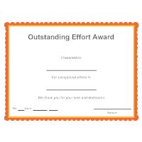 Outstanding Effort Award