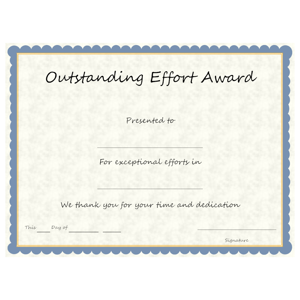 Example Image: Outstanding Effort Award