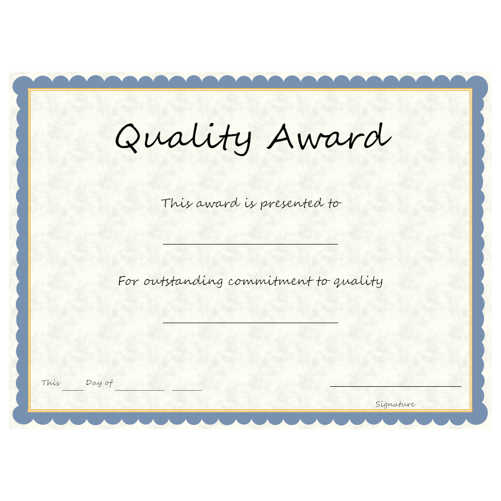 Example Image: Quality Award
