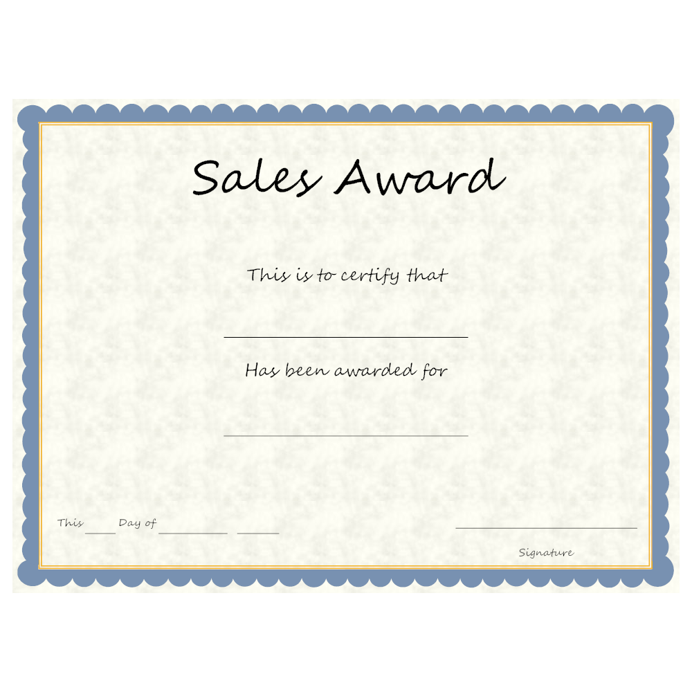 Example Image: Sales Award