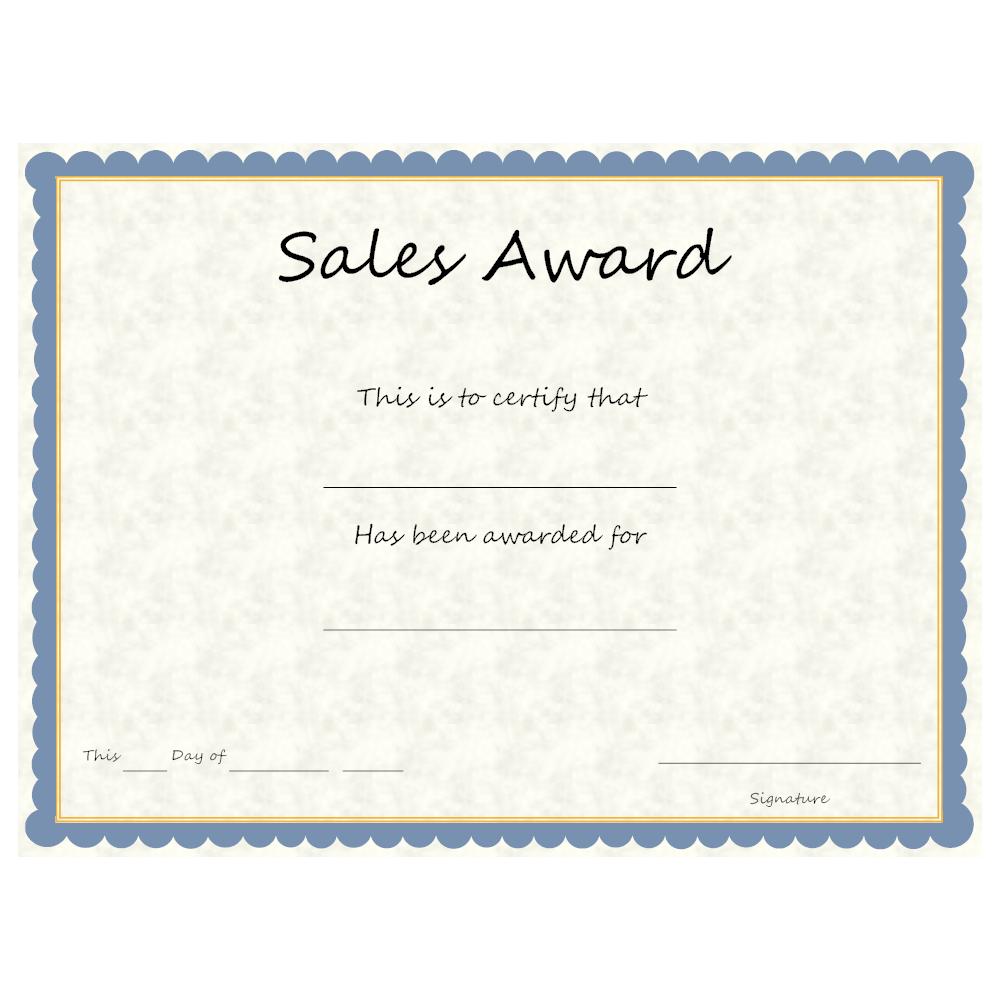Example Image: Sales Award