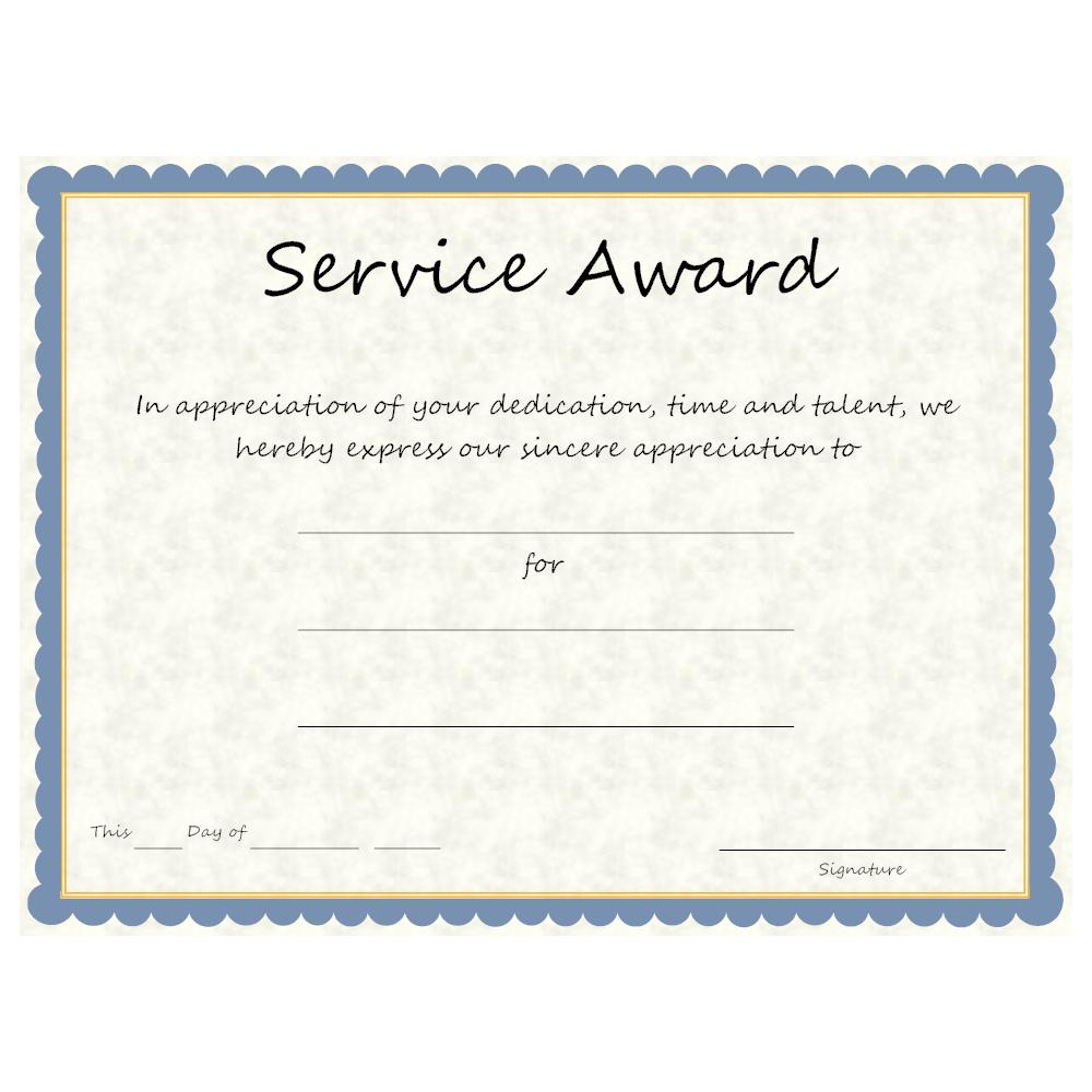 Example Image: Service Award