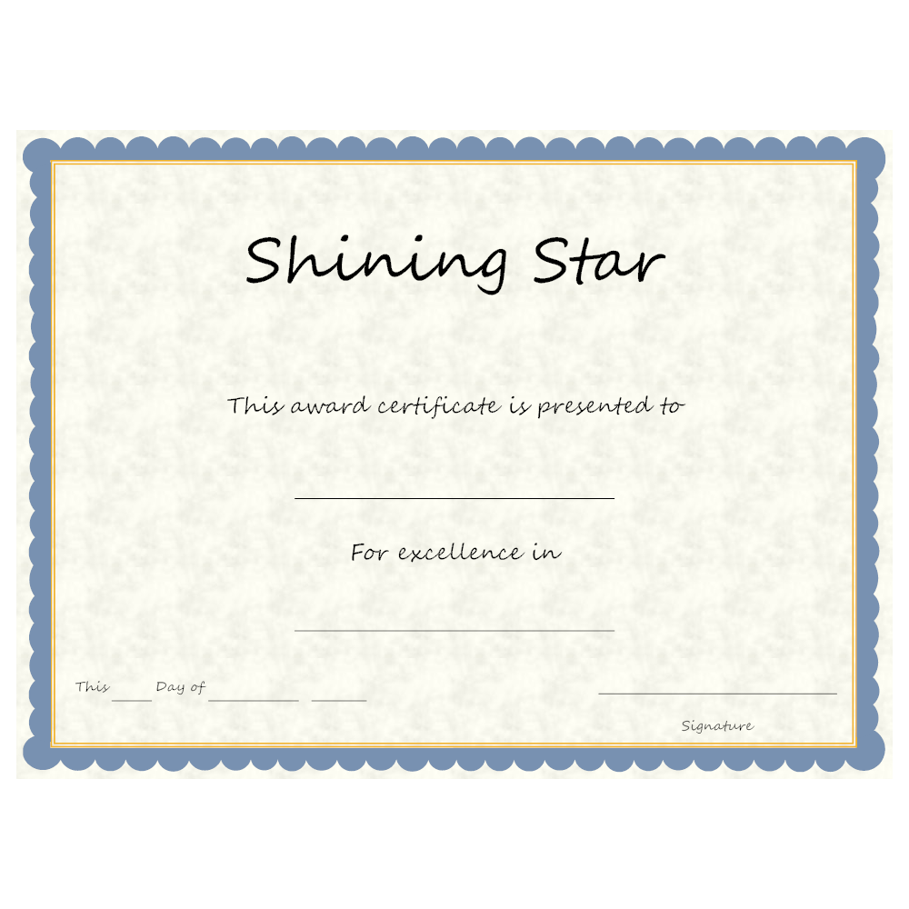Example Image: Shining Star