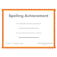 Spelling Achievement