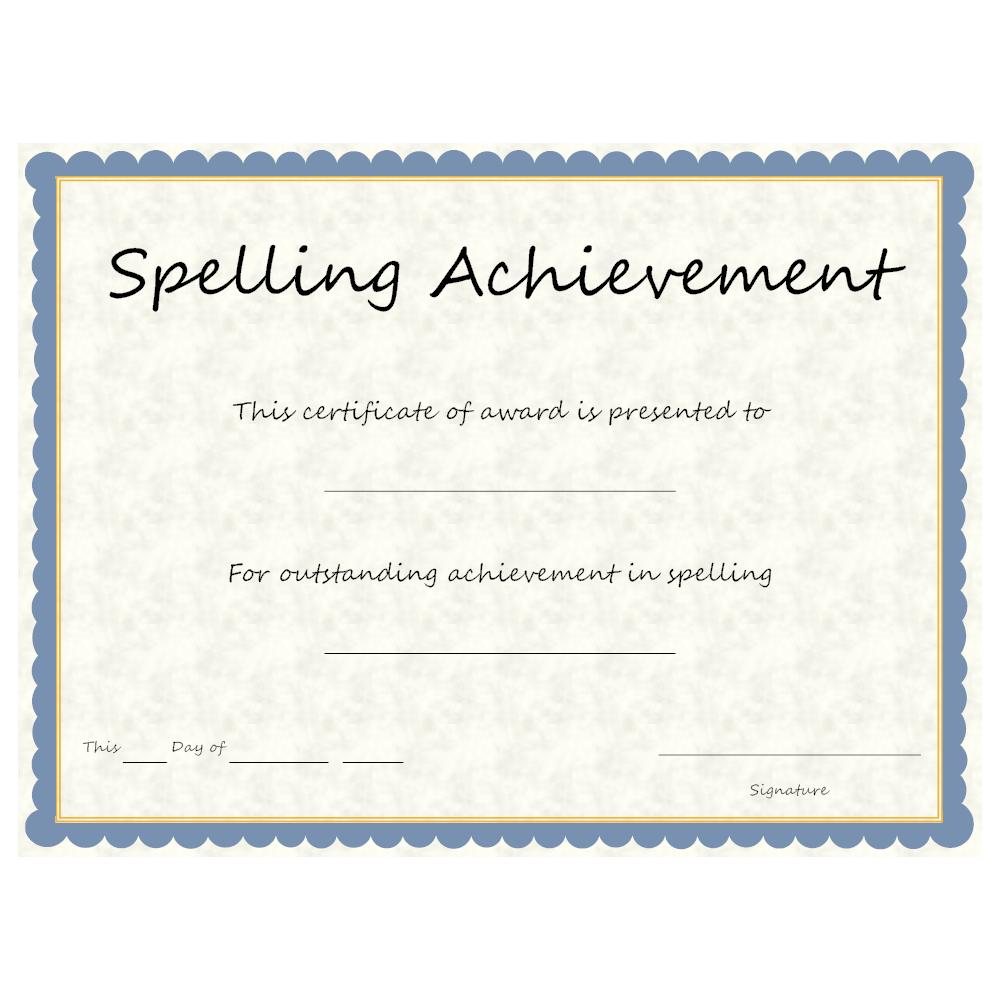 Example Image: Spelling Achievement